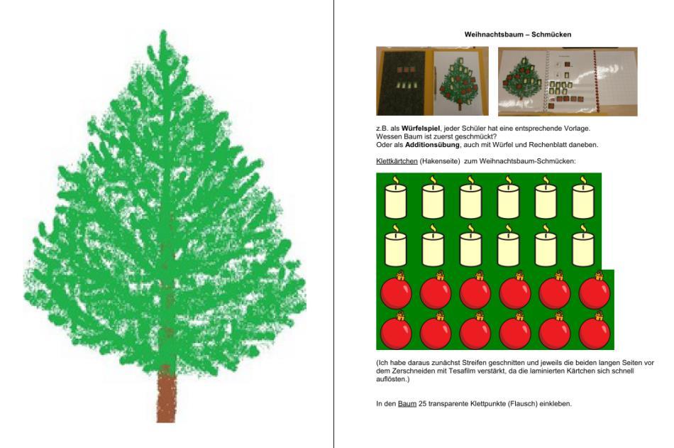 Aufgabenmappe - Weihnachtsbaum schmücken