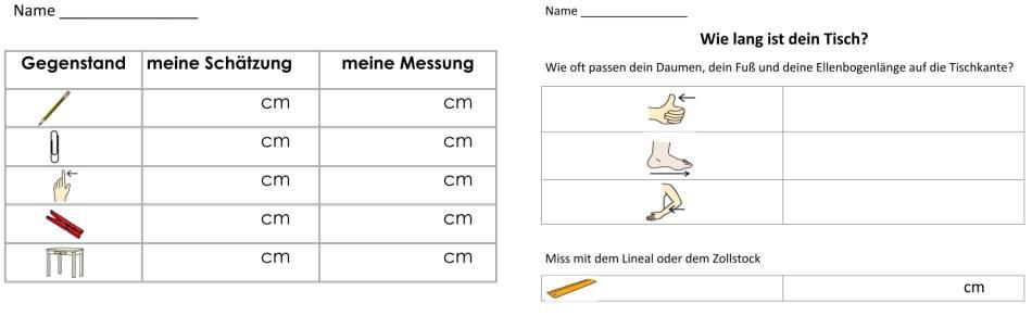 Längen schätzen und messen