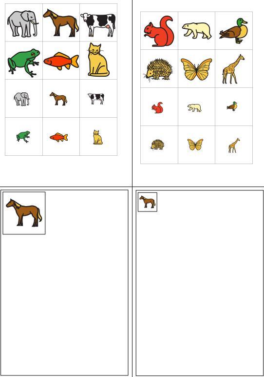 Aufgabenmappe - Groß oder Klein - Tiere