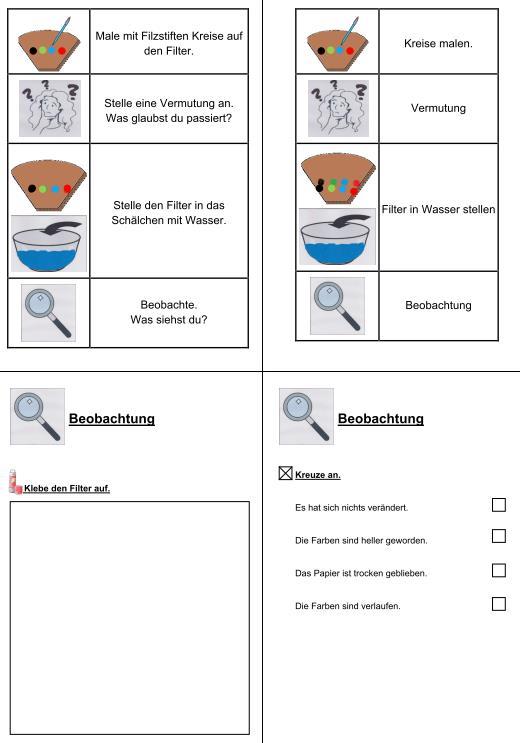 Wasserexperiment mit Filzstift
