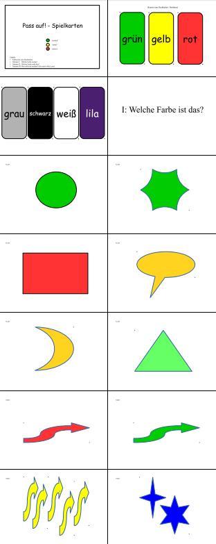 Pass auf! Lese-, Reaktions- und Farbübungsspiel