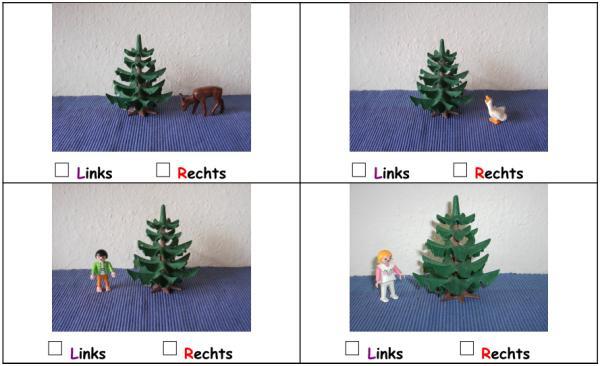 Links und rechts mit Playmobilfotos