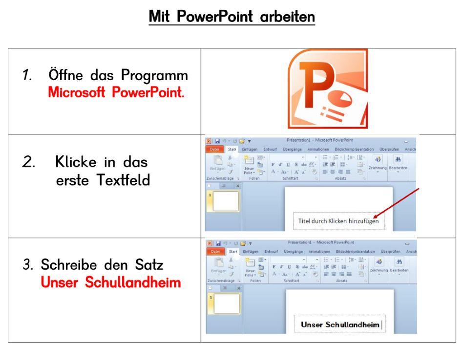 PowerPoint Präsentation erstellen