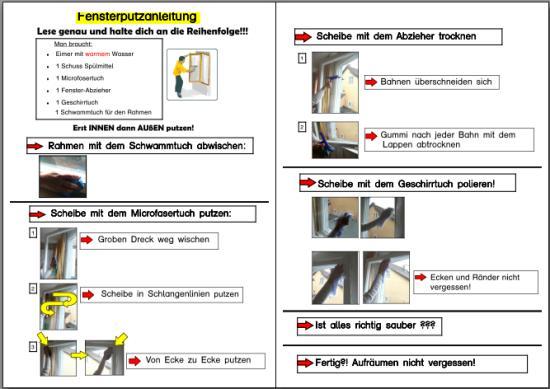 Anleitung zum Fensterputzen