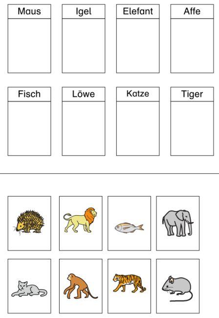Aufgabenmappen - Zuordnung Wort-Bild