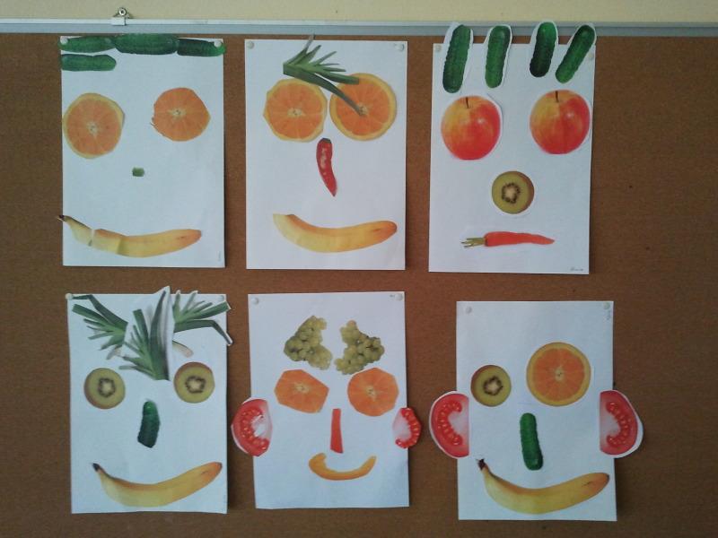 Obst- und Gemüsegesichter