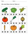 Silben- Hören - Gemüsesorten