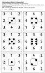 Klammerkarten - Zahlen 1-6