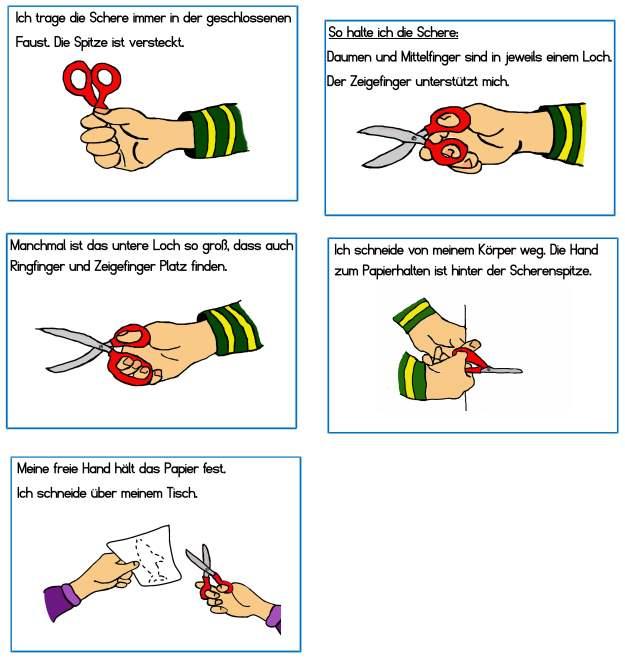 Regeln - Umgang mit der Schere
