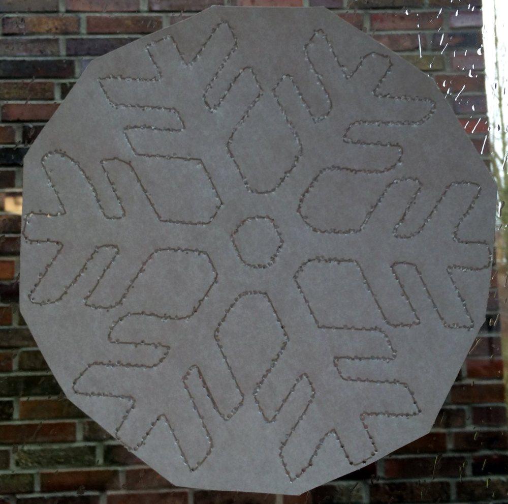 Schneeflocken prickeln