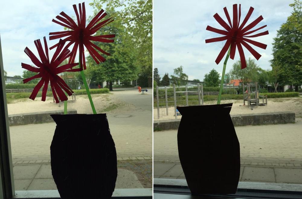 Blüten aus Joghurtbechern