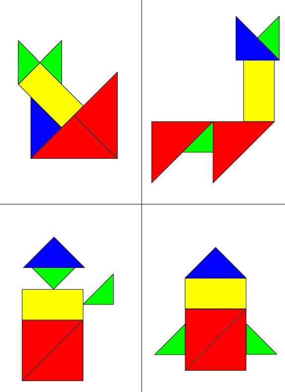 Vorlagen Mini-Tangram