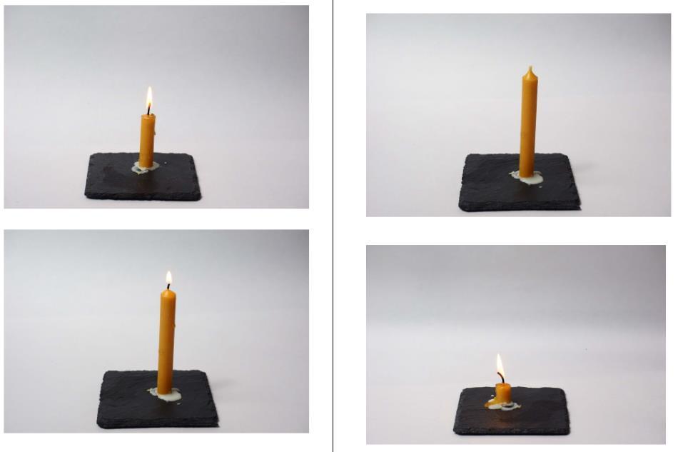 Bilderfolge - Kerze