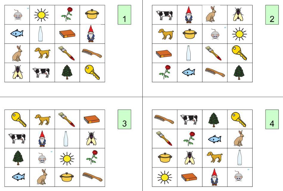 Bingo Reimwörter