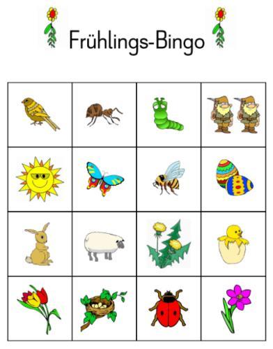 Bingo zum Thema