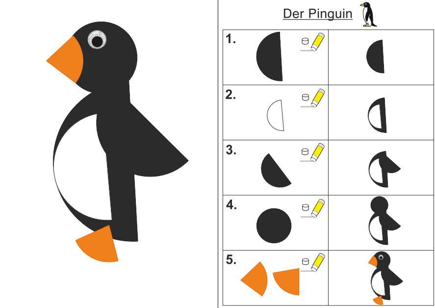 Schneideübung Pinguin