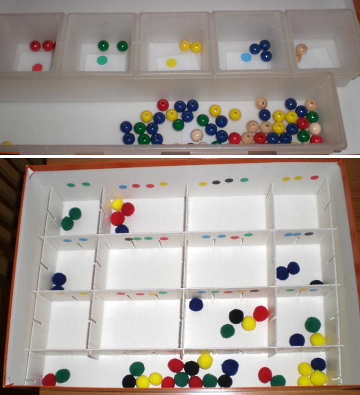 Teacch - Sortieren nach Farben