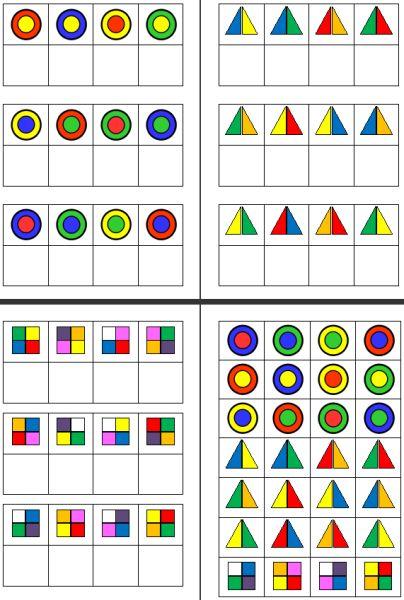 Aufgabenmappe - mehrfarbige Formen