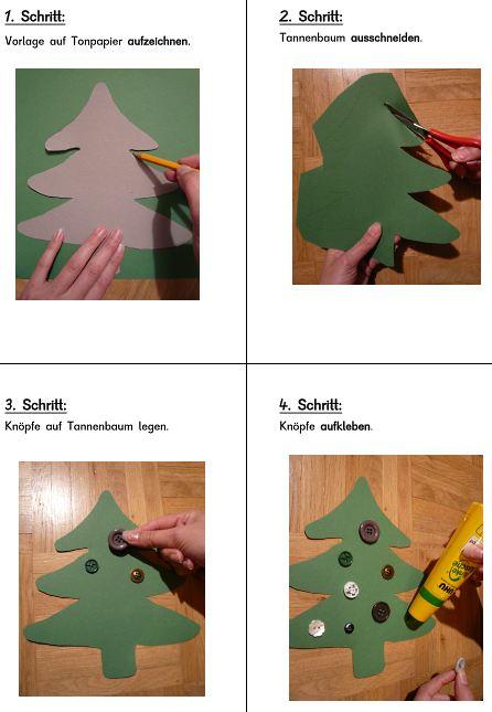 Bildanleitung - Tannenbaum mit Knöpfen
