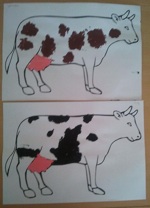 Kühe stempeln