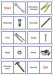 Bild - Wort Domino - Werkzeuge