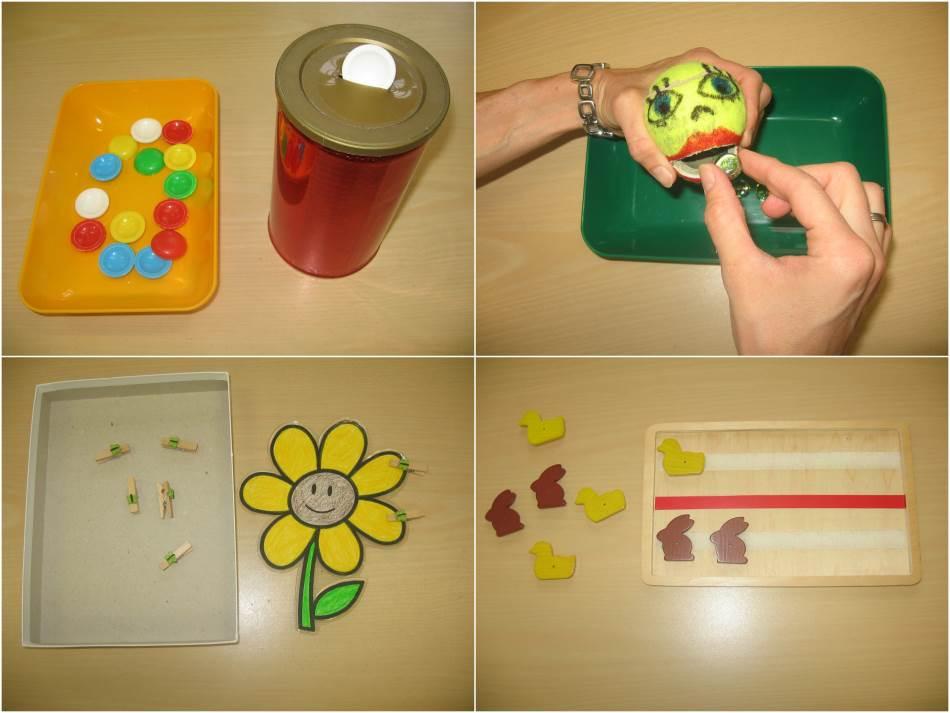 Einfache Teacch-Materialien