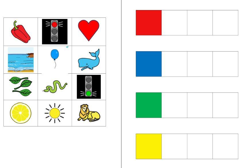 Aufgabenmappe - Farben