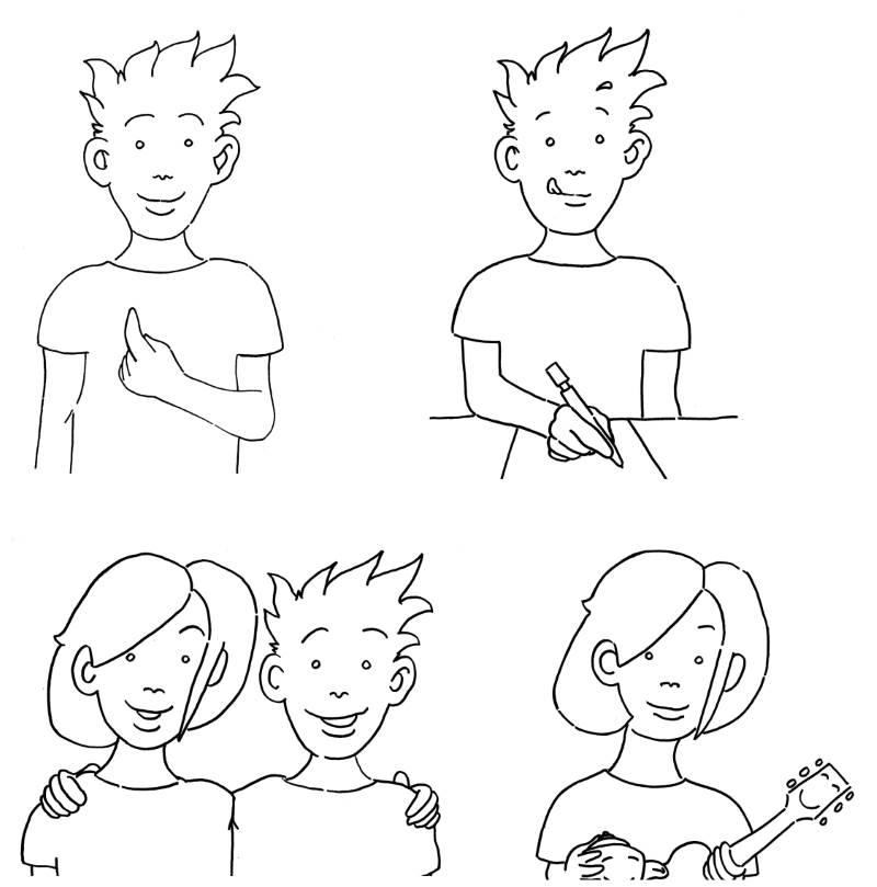 4 Bilder für Klassen- bzw. Schulregeln