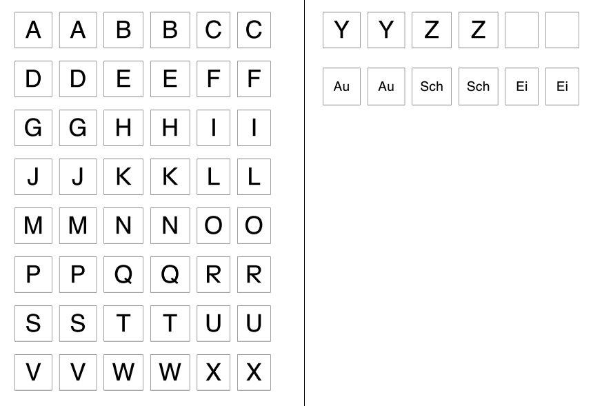 Alphabet Memorie