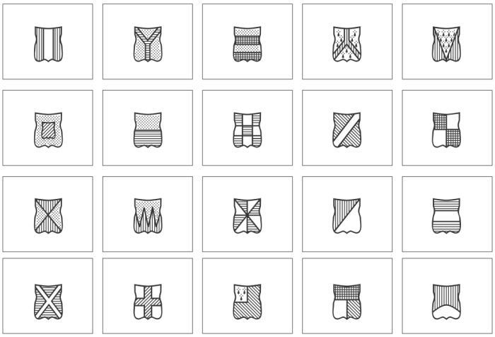 Wappen-Lotto bzw. Domino in vier verschiedenen Schwierigkeitsgraden