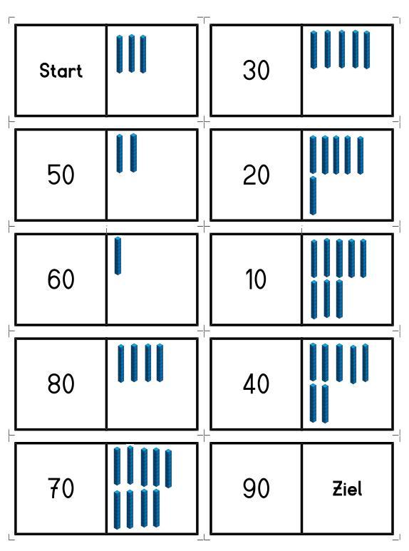 Domino - Zehnerzahlen