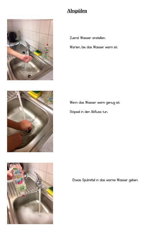 Anleitung - Spülwasser einlassen