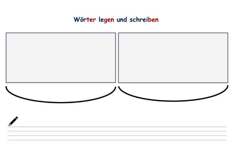 Kopiervorlage - Wörter legen und schreiben