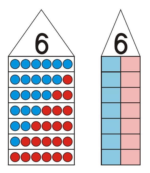 Zahlenhaus ZR 10 - rot und blau