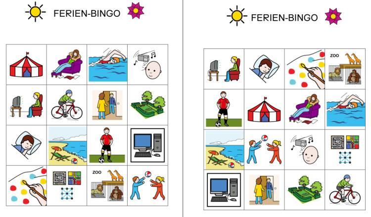 Ferien - Bingo