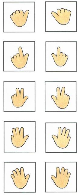 Finger zum Zählen