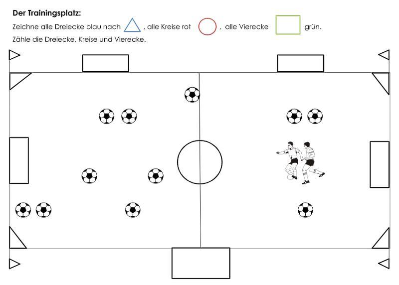 Geometrische Formen finden zum Thema Fußball