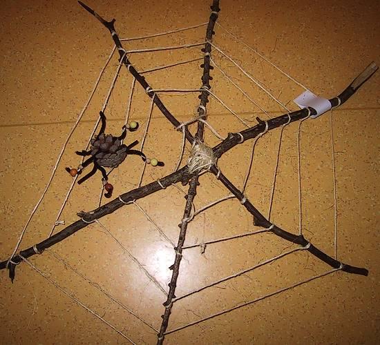 Spinnennetz aus Naturmaterial
