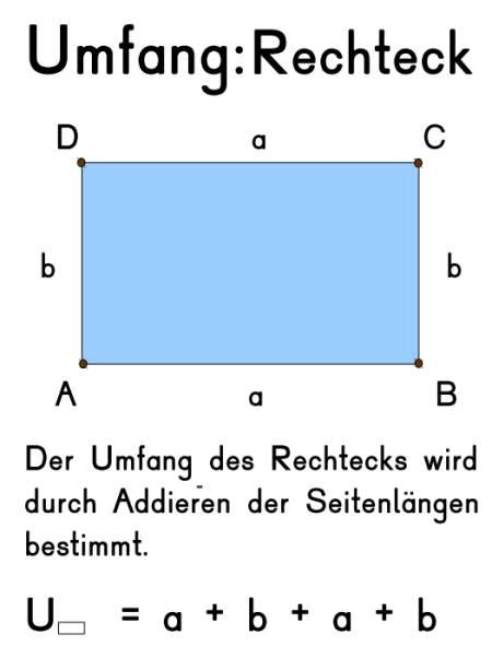 Merkplakat - Umfang Rechteck