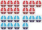 Zahlenschiffe - Zerlegung der Zahlen bis 10