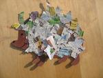 Igel aus Zeitungspapier