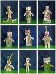 Roboter aus Alufolie