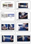 Bebilderte Anleitung für einen Verband um die Hand