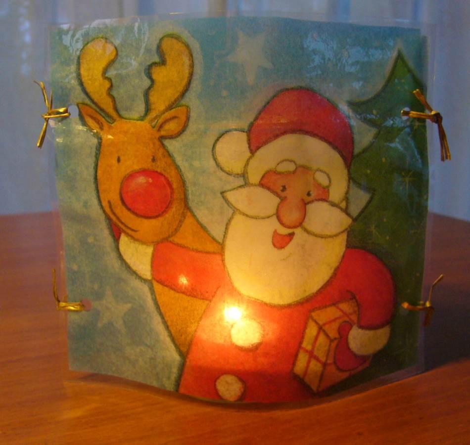 Weihnachtlicher Teelichtschirm
