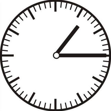 Schwarz-weiß Uhren ohne Zahlen