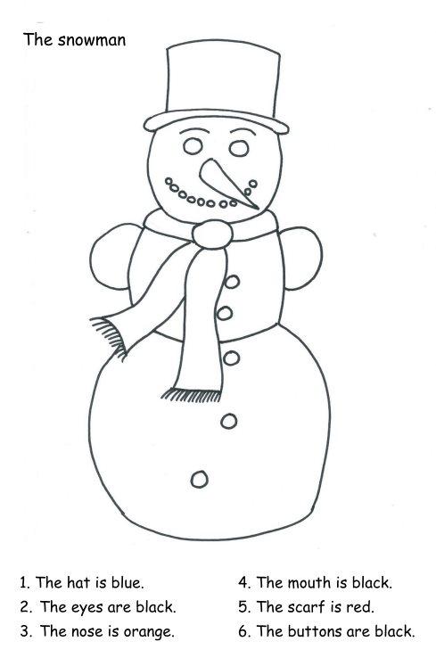 Colour the snowman