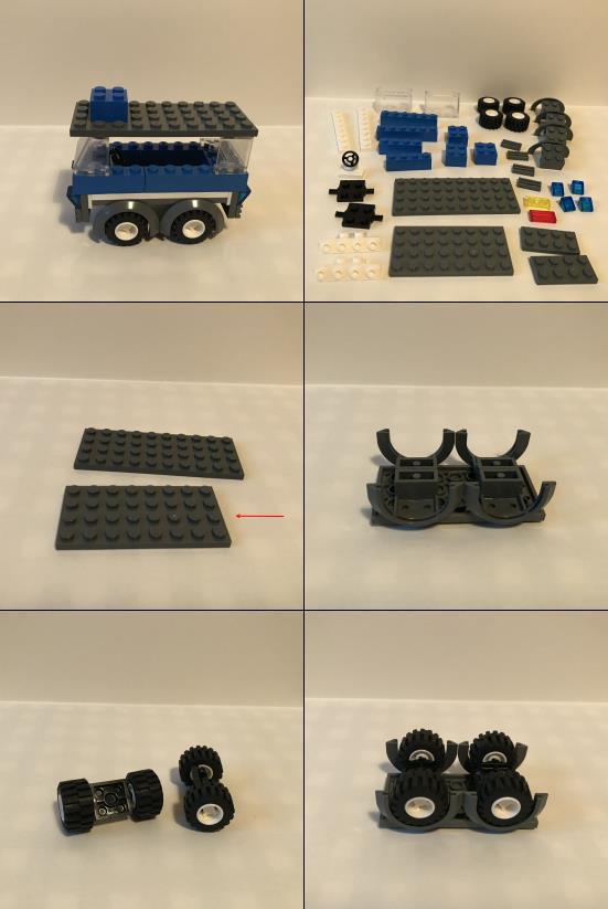 Lego bauen nach Plan - Polizeiauto