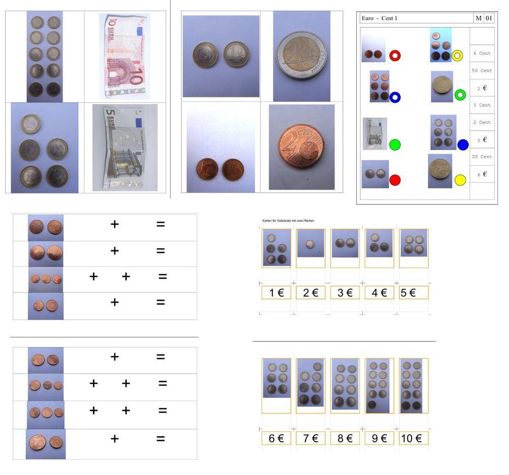 Euro und Cent kennenlernen