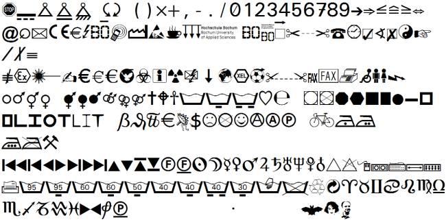 Symbole für den Büroalltag