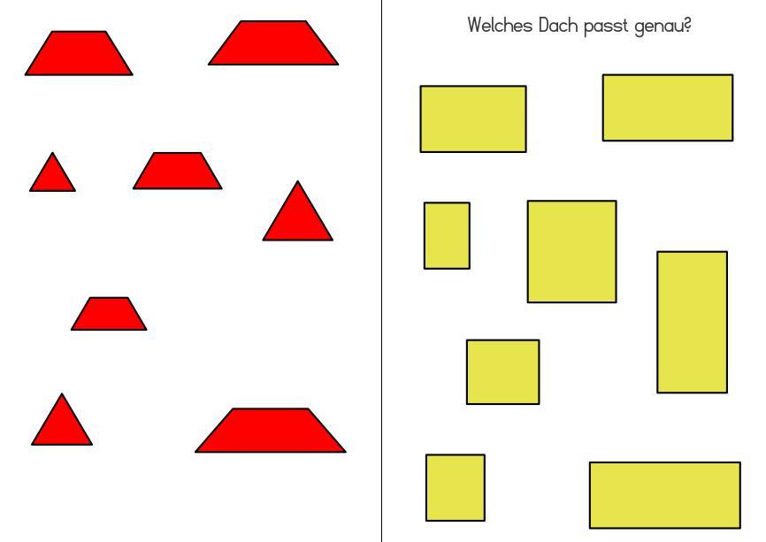 Aufgabenmappe - Welches Dach passt genau?